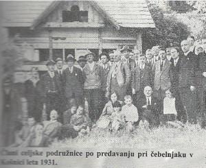 Člani celjske podružnice 1931